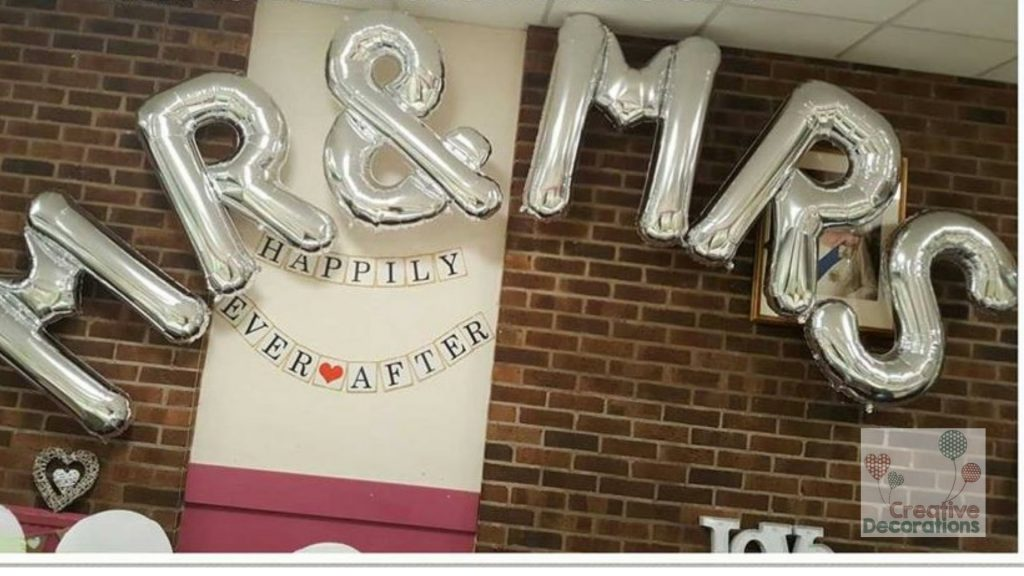 Mr & Mrs Letter Balloons