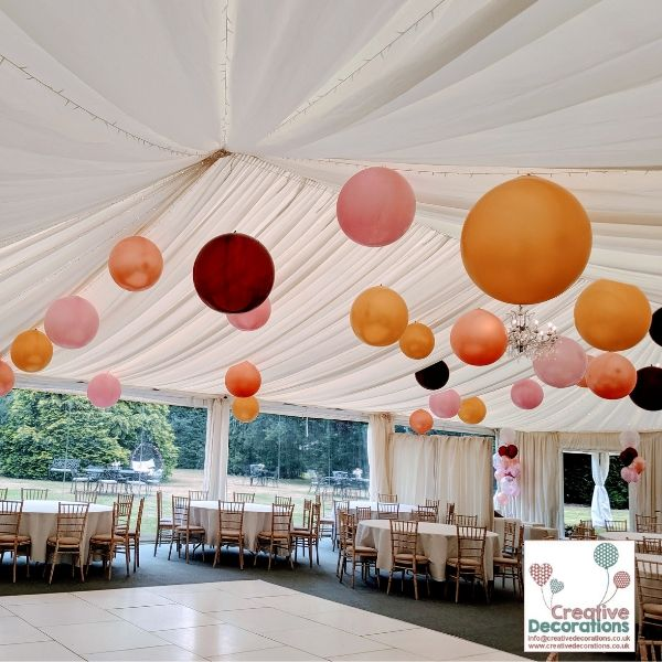 Air filled Hanging Ceiling balloons