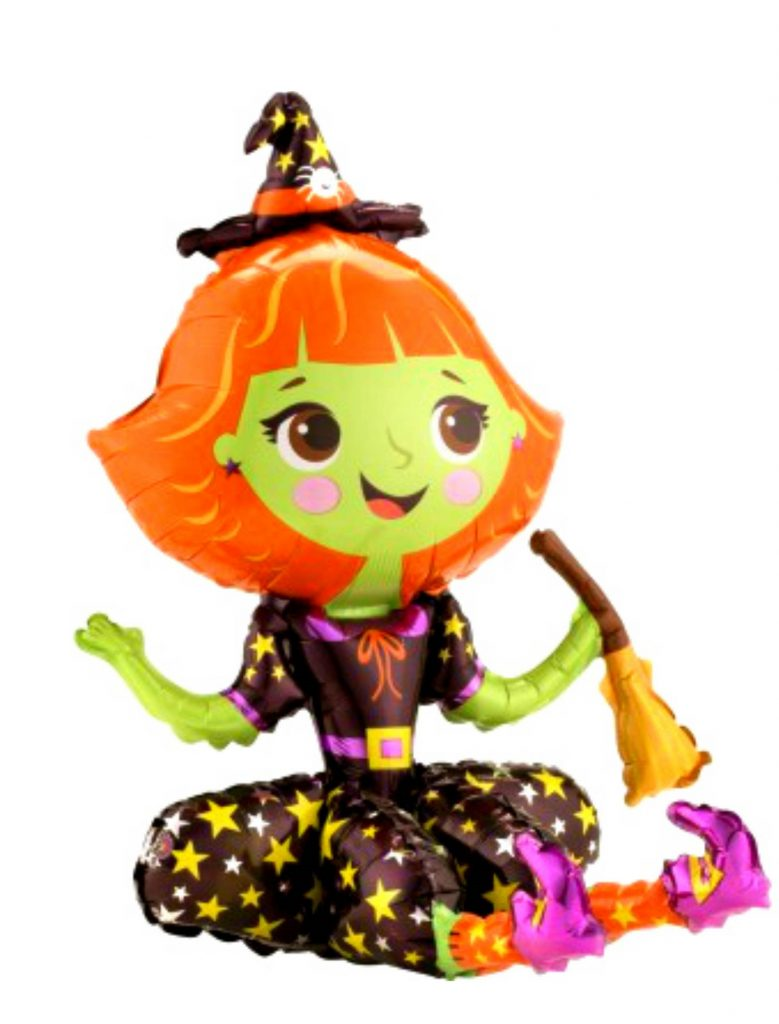 Sitting witch balloon
