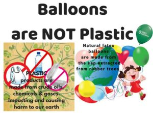 Balloon are not plastic