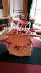 Wedding fair Sweet Cart