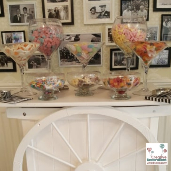 A birthday Party Sweet Cart
