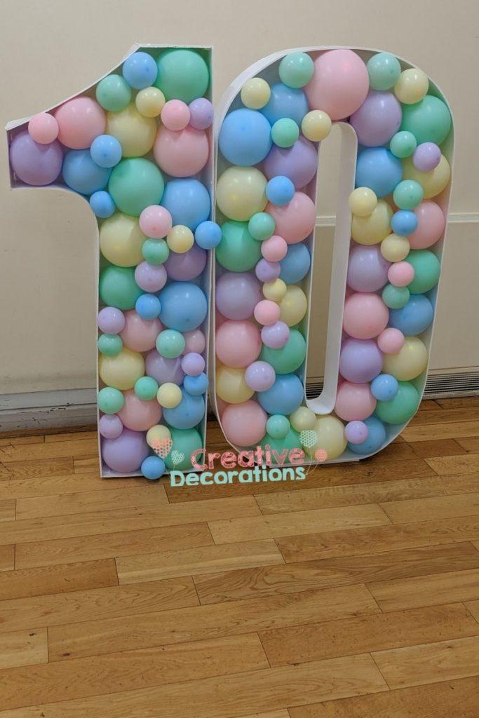 Big number balloon display