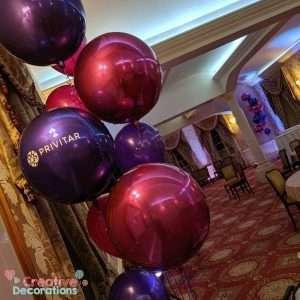 Personalised Pink & Purple Orbz Balloons
