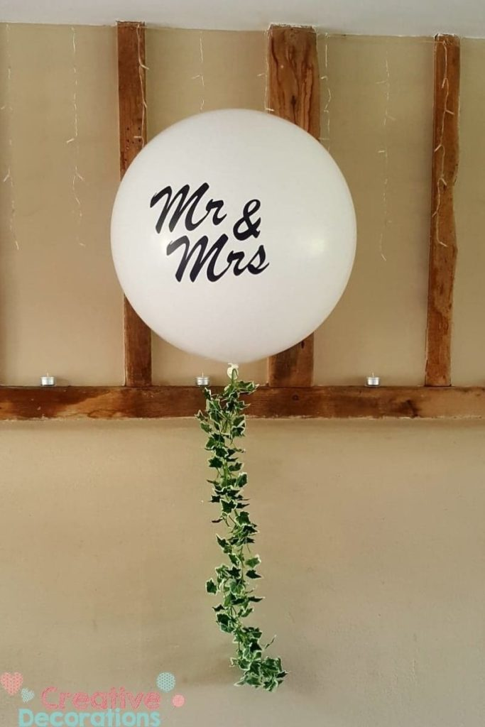 Mr & Mrs Giant wedding balloon