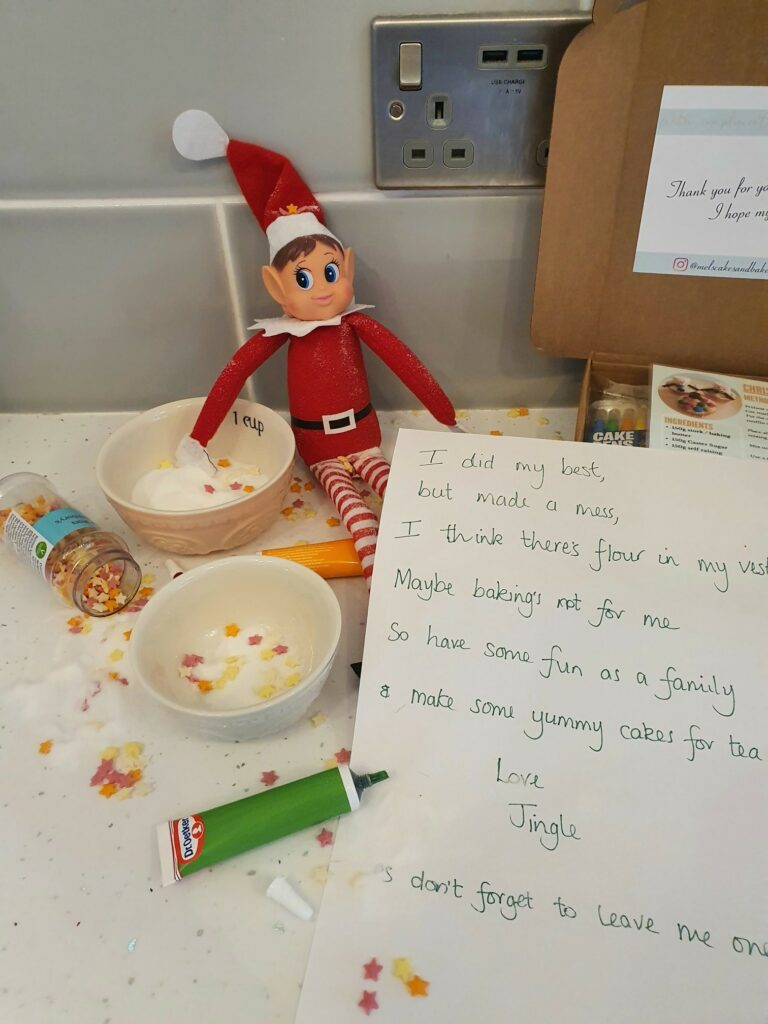 Elf with baking box