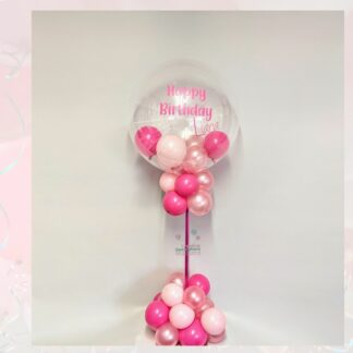 Pink personalised bubble display