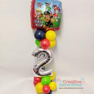Air filled balloon display