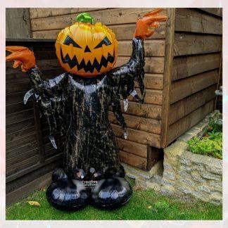 halloween pumpkin man foil balloon
