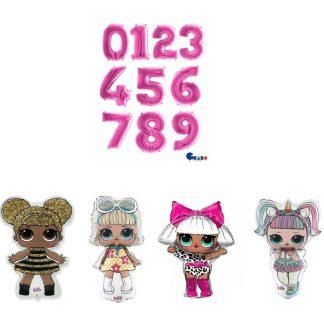 Lol dolls balloon number display